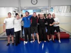 Gerard Smith entrenando con nosotros en el Gimnasio Mirasierra