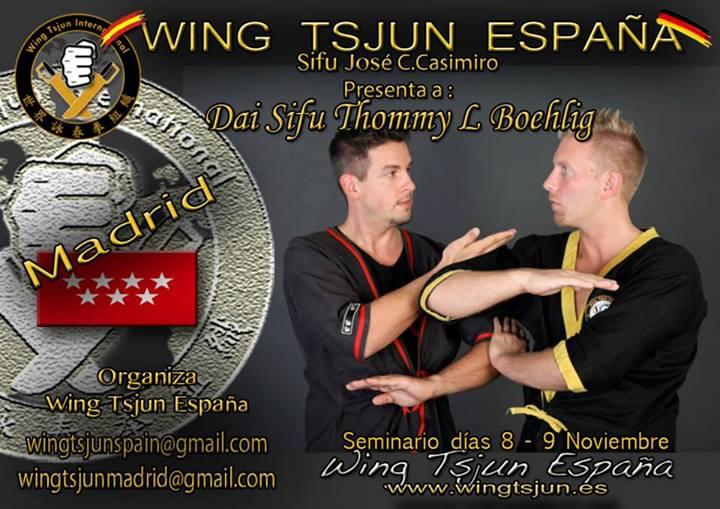 Seminario Sifu Thommy L. Bohelig: 8-9 de Noviembre en Madrid
