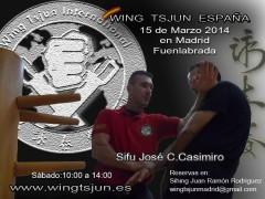 Seminario sifu Casimiro en Madrid 15 de Marzo 2014