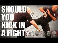 El uso de patadas desde media/corta distancia en Wing Chun