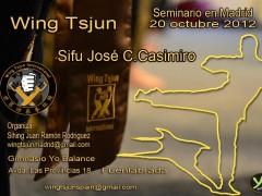 Seminario Wing Tsjun International en Madrid 20 Octubre. Sifu JoseC. Casimiro