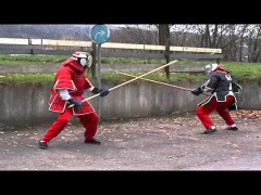 Sparring con palo largo de Wing Chun
