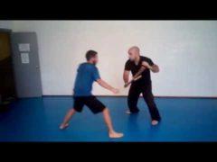 Álvaro Ruiz y David entrenando Escrima (Escrima Concepts)