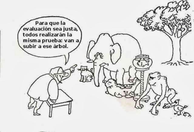 No se puede enseñar a un elefante a subir árboles como un mono